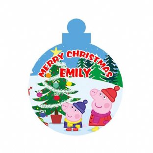 Peppa Pig Acrylic Christmas Ornament Decoration